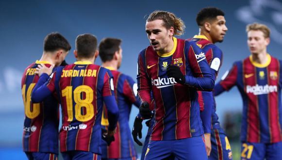 Antoine Griezmann anotó doblete con Barcelona en la final de Supercopa de España