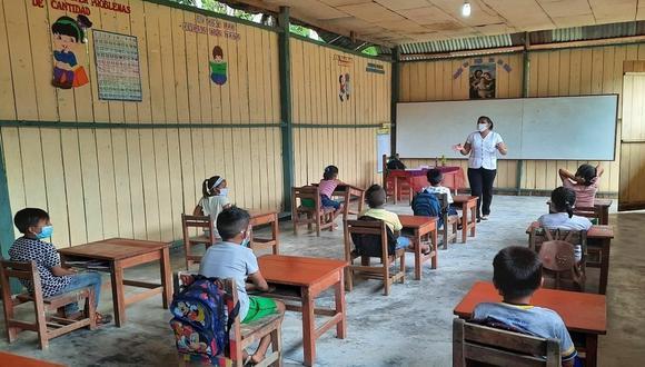 Unas 800 instituciones educativas de zonas rurales de todo el país están desarrollando clases semipresenciales. (Foto: Minedu)