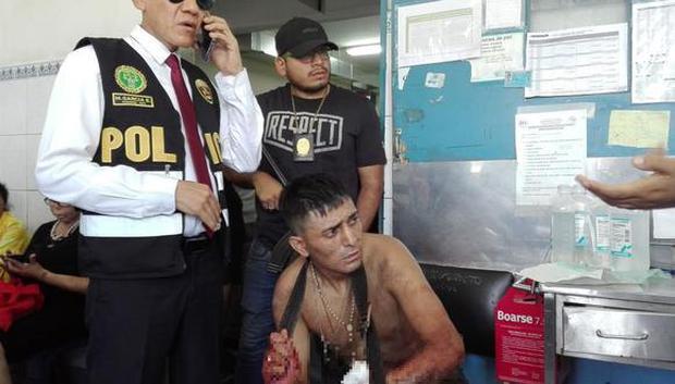 'Cuajis' capturado luego de enfrentarse a balazos con la policía (PNP)