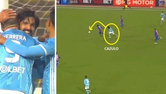 Gol de Jorge Cazulo en Sporting Cristal vs Alianza Universidad