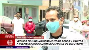 Vecinos denuncian el incremento de robos a pesar de colocar cámaras de seguridad
