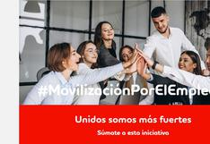 Movilización por el Empleo: Lanzan nueva plataforma de trabajo para reactivar la economía