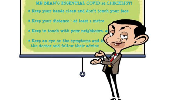 Mister Bean se alía con OMS para pedir que población siga alerta ante COVID-19. (Foto: Captura de video)