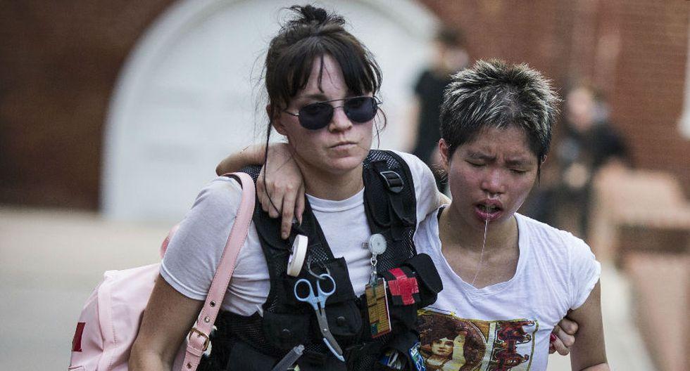 Contramanifestantes fueron atropellados durante una marcha de supremacistas blancos en Estados Unidos. (AFP)