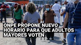 Elecciones 2021:ONPE propone cambiar el horario del voto escalonado para los adultos mayores