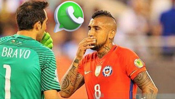 Arturo Vidal y otros jugadores de la selección crearon grupo de whatssap sin Claudio Bravo