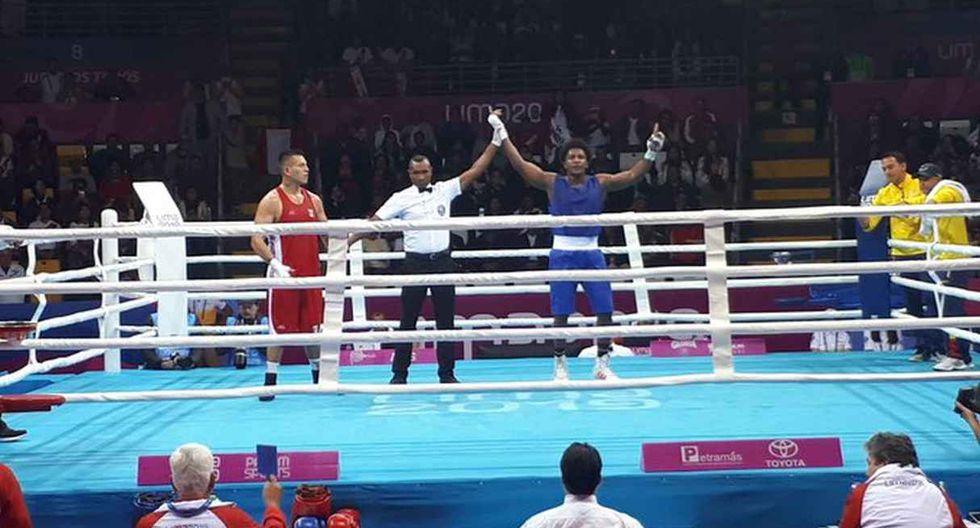 José Lucar obtiene la medalla de bronce en boxeo de Lima 2019. (Foto: @AMBCBoxing)
