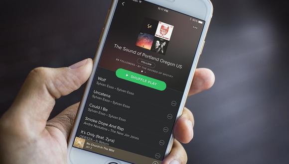 ¿Quieres que tu memoria interna del celular no se sature por Spotify? Este es el truco que debes probar. (Foto: AFP)