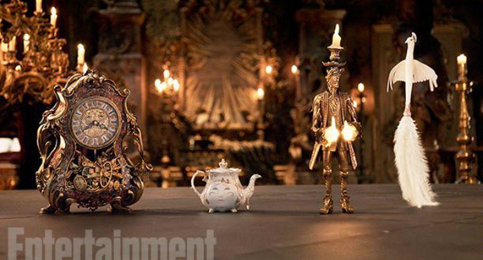 La señora Potts, Lumière y Din Don para la revista Entertainment Weekly.