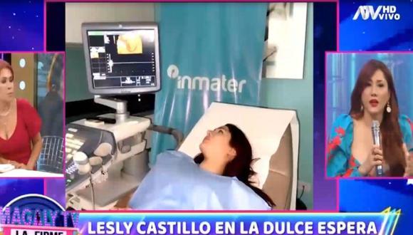 Leslie Castillo anunció que está embarazada por segunda vez. (Magaly Tv. La firme)