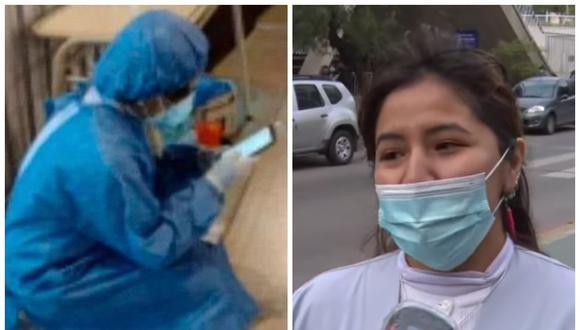 Joven enfermera rinde su examen mientras toma hisopados: no quiso abandonar a sus compañeras. (Foto: Todo Noticias | YouTube)
