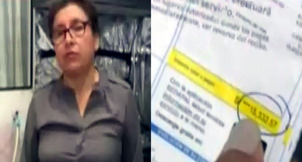 Indignada vecina denuncia que Sedapal le quiere cobrar más de 15 mil soles por consumo de un mes. Foto: Captura de América Noticias