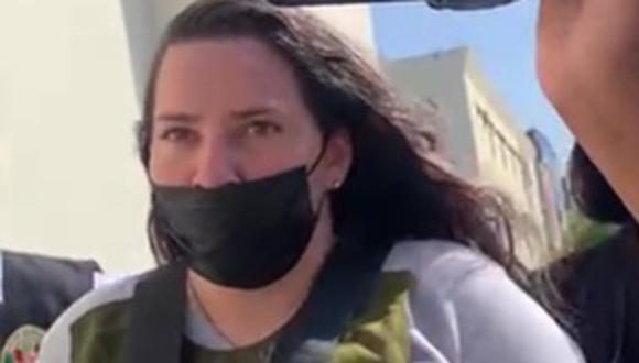Detenida fue llevada a la Dirincri. | Foto: Difusión
