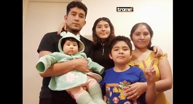 Trome conversó con Fiorella Contreras, peruana tetracampeona de ajedrez. En la foto: con sus padres y hermanitos. (Isabel Medina / Trome)