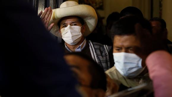 Pedro Castillo sostuvo reunión con rectora electa de San Marcos. (Foto: César Bueno @photo.gec)
