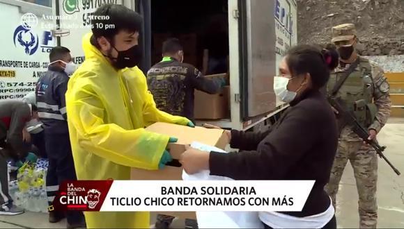 Aldo Miyashiro y una destacable labor por los más necesitados. (Captura La Banda del Chino /América TV)
