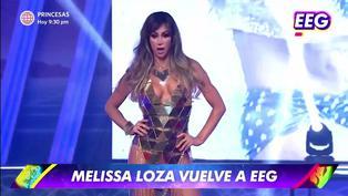 Melissa Loza regresó a EEG y sufrió un percance con su vestuario en pleno baile | VIDEO