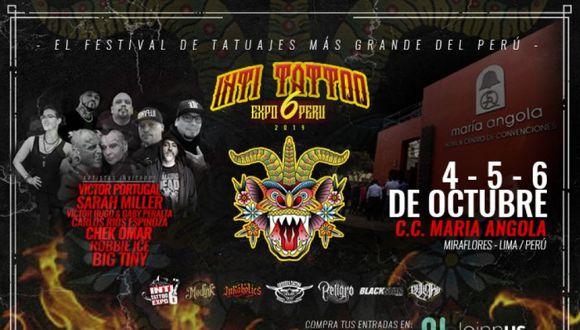 La sexta convención internacional de tatuajes más grande de Latinoamérica se realizará este 4, 5 y 6 de octubre. (Foto: Difusión)