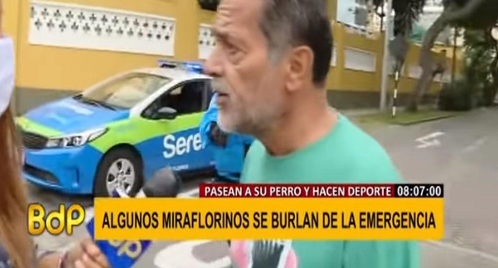Hombre pechó a reportera. (Buenos Días, Perú)