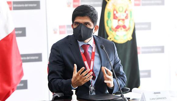 El ministro del Interior, Juan Carrasco, descartó cambios en la Policía Nacional. (Foto: El Peruano)