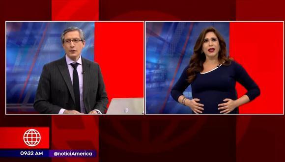 Verónica Linares se despide de América Noticias para dar a luz a Antonia