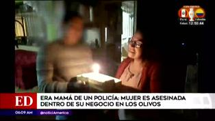 Mamá de policía es asesinada dentro de su negocio en Los Olivos
