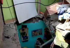 Lambayeque: Familia entera salva de morir tras caer sobre su casa una pared desde el cuarto piso de inmueble vecino | VIDEO