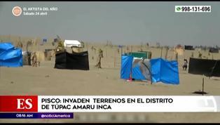 Pisco: invasores toman terrenos en el distrito de Túpac Amaru Inca