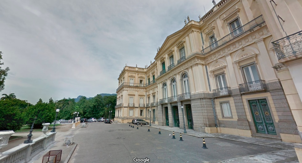 Así lucía en Street View el histórico Museo Nacional de Brasil que se incendió en Río de Janeiro. (Google Maps)