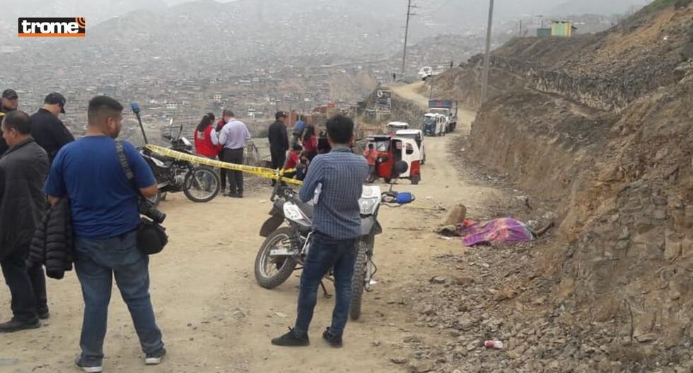 Encuentran cadáver calcinado de mujer en cerro de Villa María del Triunfo. Foto: Trome | Mónica Rochabrum