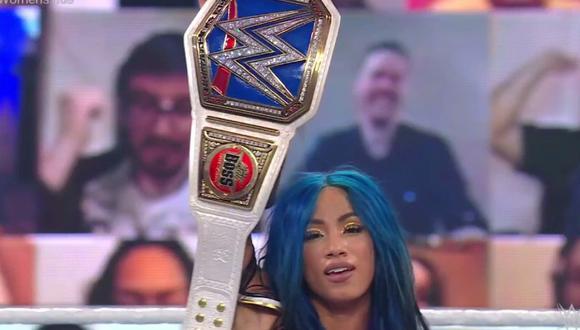 Sasha Banks retuvo el título de SmackDown ante Carmella. (WWE)