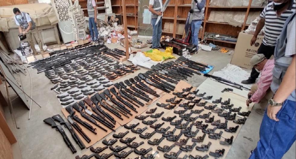 Inseguridad ciudadana: Sucamec decomisa 359 escopetas y revólveres escondidos en almacén