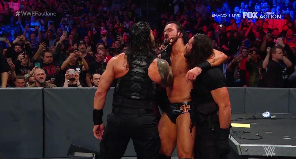 Sensacional reaparición del grupo The Shield. (Captura Fox Action)