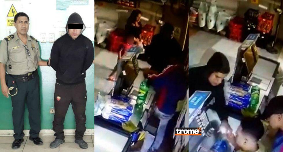 Ladrones siembran el terror en tienda de abarrotes y atacan con botella rota a empleado | TROME