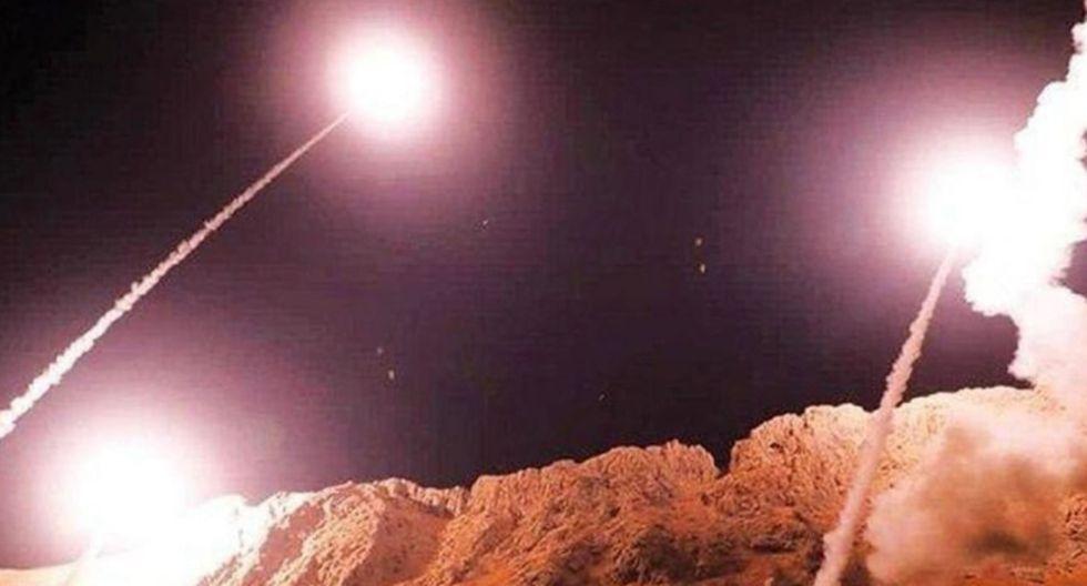 Irán lanzó varios misiles a base aérea en Irak que alberga fuerzas de Estados Unidos. (Twitter)