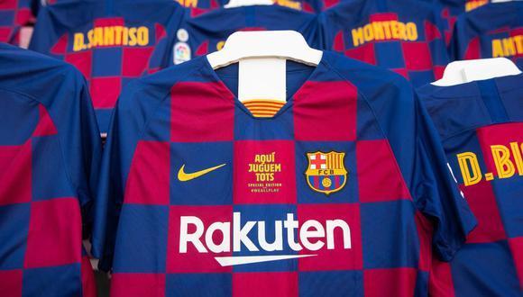 Camisetas en el Camp Nou para el  Barcelona vs. Atlético Madrid