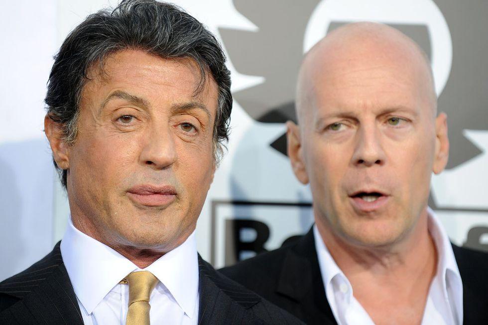 Sylvester Stallone y Bruce Willis eran muy buenos amigos (Foto: AFP)