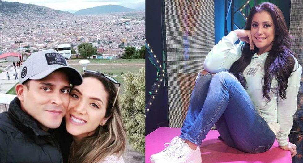 Christian Domínguez, Isabel Acevedo y Karla Tarazona