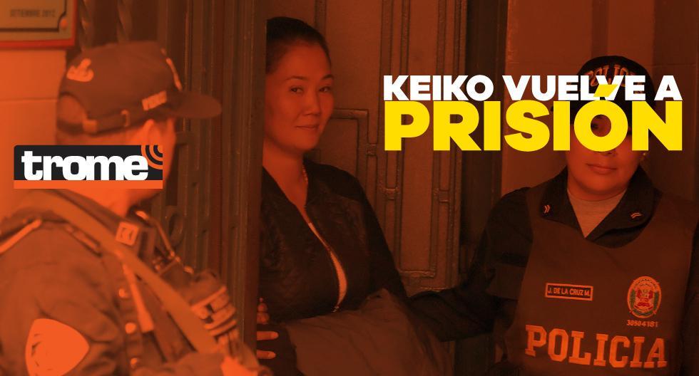 Keiko Fujimori regresa a la cárcel por el caso Odebrecht. (GEC/Composición: Trome)