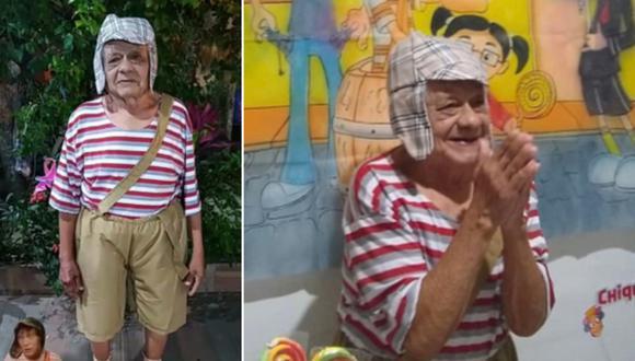 El abuelo ha ganado mucha popularidad en Internet por vestirse como 'El Chavo del 8'. (Foto: (@celinhamanhaes / Twitter)