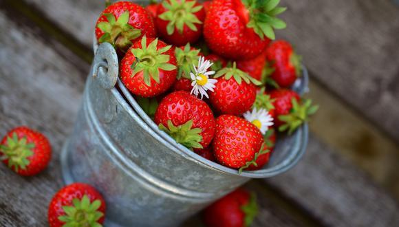 Algunos estudios han señalado que las fresas mejoran la salud de los ojos. Foto: Pixabay.