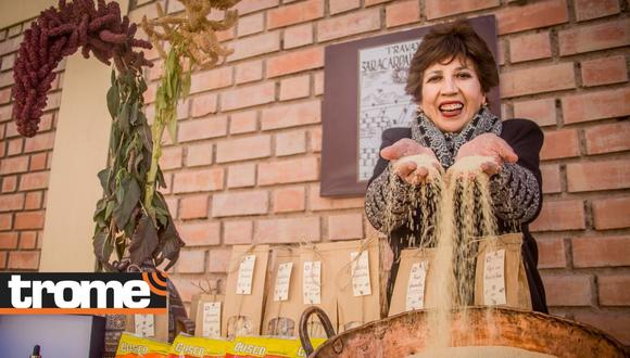 Doña Adriana Valcárcel visitó ferias internacionales donde conoció de cerca las necesidades de los consumidores para crear nuevos productos. Foto: Caja Cusco.