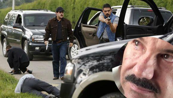 En el rodaje de la nueva película de El Chapo. Composición: Con imagen de AP