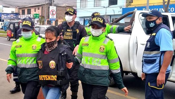 Nancy Olenka Sales Rojas (42) era buscada por tráfico de drogas desde el año 2017 (PNP)