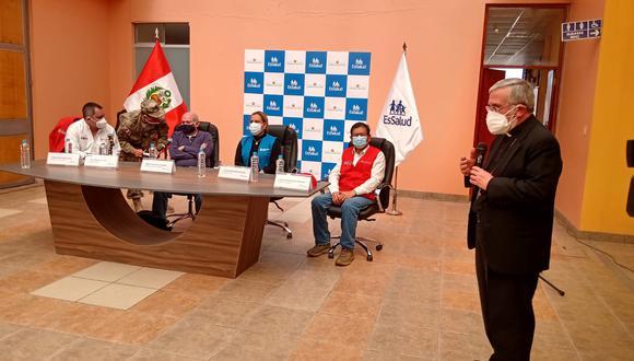 Arequipa: monseñor anuncia que planta de oxígeno donada a la región la administrará el Seguro Social (Foto difusión).