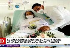 Colombia: pareja logra casarse en hospital, 48 horas después la novia murió