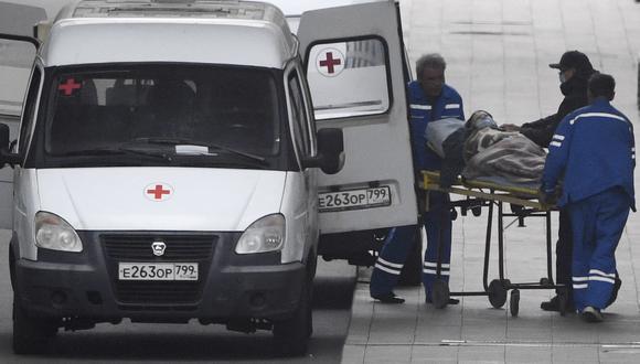 Rusia es el quinto país con más casos de coronavirus en el mundo, solo por detrás de EE. UU., la India, Brasil y el Reino Unido. (Foto: Alexander NEMENOV / AFP)