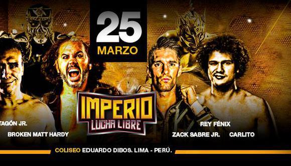 Imperio Lucha Libre: Exluchadores de WWE se presentarán en el coliseo Eduardo Dibós