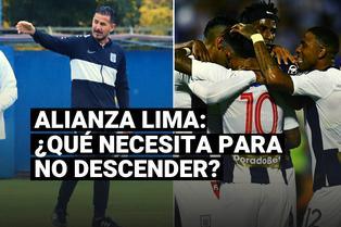 Estos son los resultados necesita Alianza Lima para salvarse del descenso
