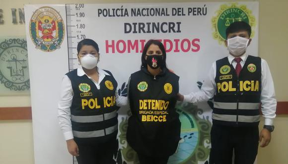 María Fernanda Sandoval es investigada en la Dirincri por el asesinato de su compatriota. (PNP)